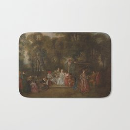 Follower of Antoine Watteau FÊTE GALANTE Bath Mat