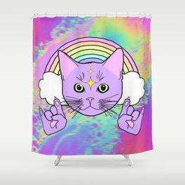 Hardcore Kitty Shower Curtain