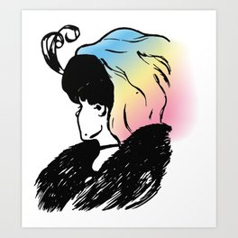 What do you see? Art Print