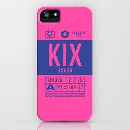 Baggage Tag B - KIX Osaka Kansai Japan iPhone Case