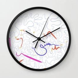 abstract color splash Wall Clock