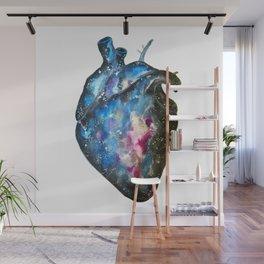 Galaxy heart Wall Mural