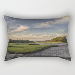 Summer Marsh Sunset Rectangular Pillow