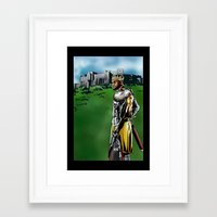 lebron Framed Art Prints featuring LeBron James, Return of the King by PointsInThePaint