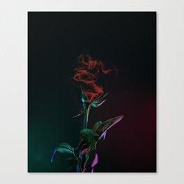 surreal rose / smoke Canvas Print