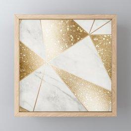 Elegant Marble and Gold Abstract Design Framed Mini Art Print