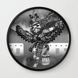 Kachina Eagle Black and White Wall Clock