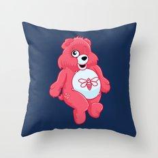 breaking bear. Throw Pillow