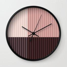 Color Block Lines Abstract XI Wall Clock