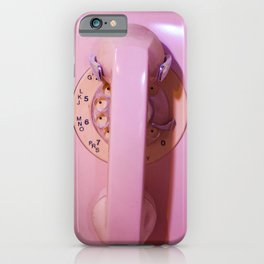 Pink Phone iPhone Case
