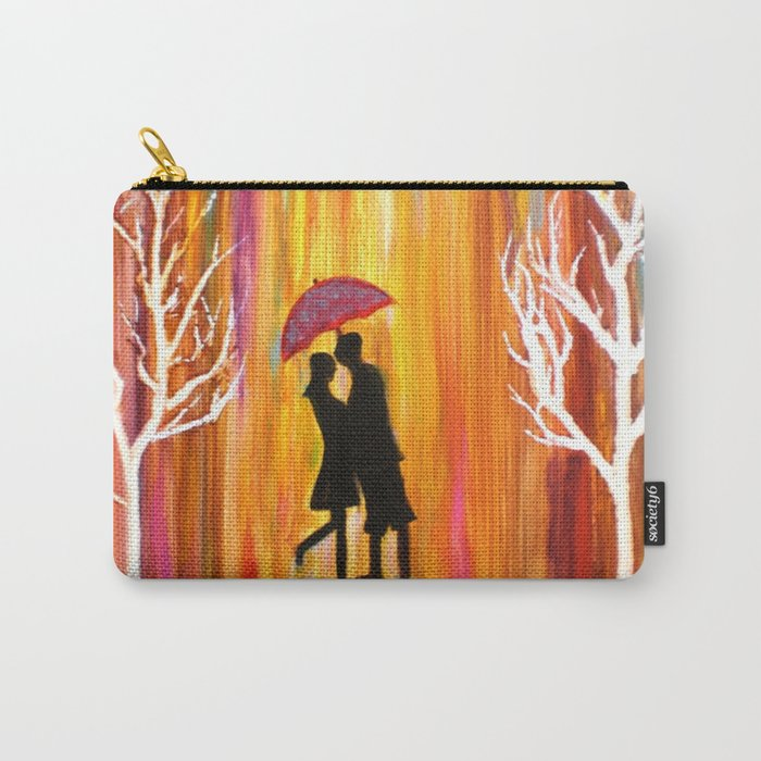 Romance in the Rain I romantic gift art Carry-All Pouch