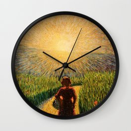 Sicilian sunset by Pippo Rizzo Wall Clock