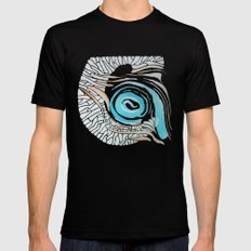 Horn-swirl inv Mens Fitted Tee Black SMALL