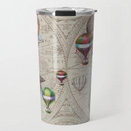 Balloon Festival Brown Travel Mug