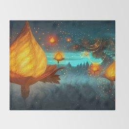 Magical lights Throw Blanket