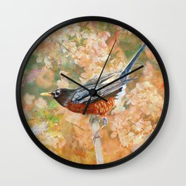Surrounded In Bloom Wall Clock