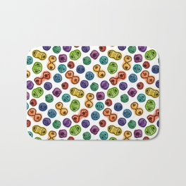 Mitosis - Color on White Bath Mat