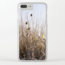 grass in the frost Clear iPhone Case