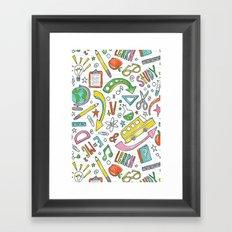 School Is Cool Framed Art Print