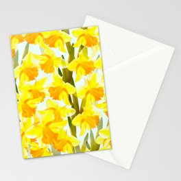 Spring Breeze With Yellow Flowers #decor #society6 #buyart Stationery Cards