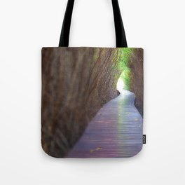 Underpass of dead trees Tote Bag