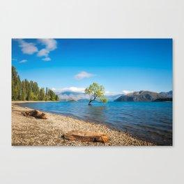 Clear blue morning at Lake Wanaka, New Zealand Canvas Print