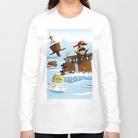 pirates Long Sleeve T-shirts featuring Pirates by modernagestudio
