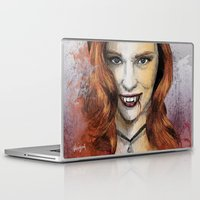 true blood Laptop & iPad Skins featuring Oh My Jessica - True Blood by Fresh Doodle - JP Valderrama