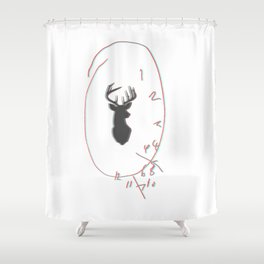 3D Will Graham Clock Shower Curtain