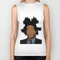 basquiat Biker Tanks featuring Basquiat by evanski