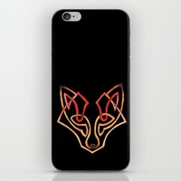celtic iPhone & iPod Skins featuring Celtic fox - celtic knot by Ioreth