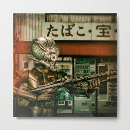 Insect Man Causes Havoc Metal Print