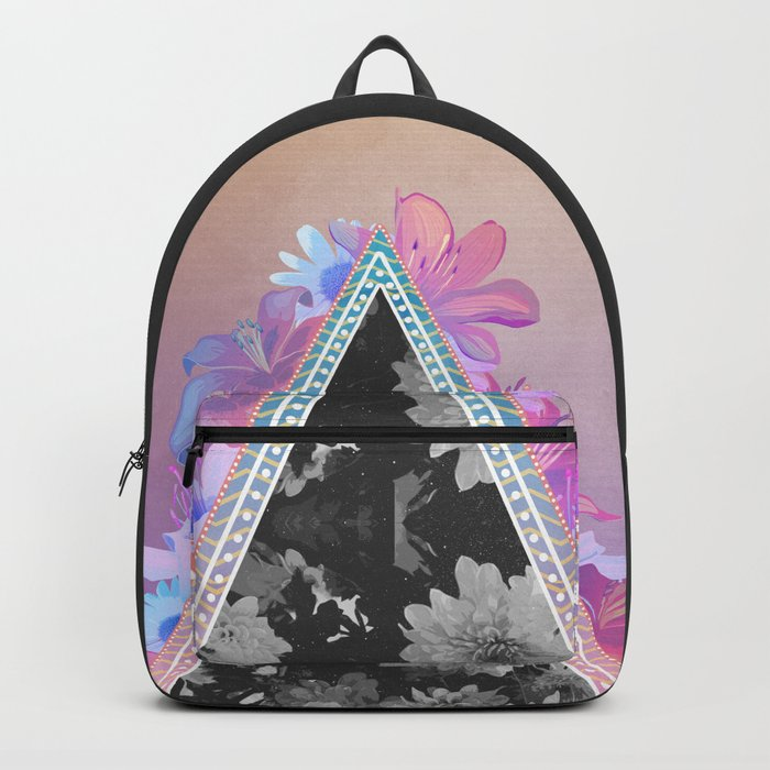 floral triangle Backpack