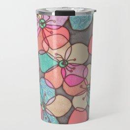 It's Always Summer Somewhere - bright poppy floral Travel Mug