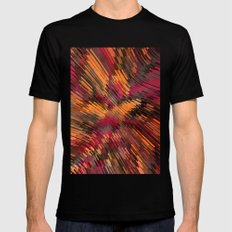 Colorful Distortion MEDIUM Black Mens Fitted Tee