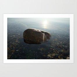 Rock in water II Art Print