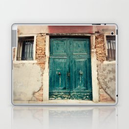 Turquoise Door in Venice Laptop & iPad Skin