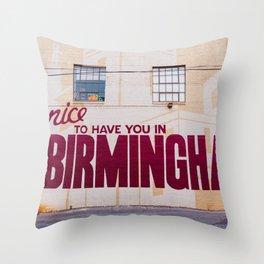 Birmingham Mural Throw Pillow