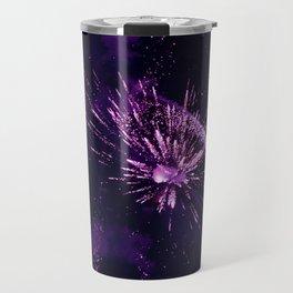 Fireworks purple Travel Mug