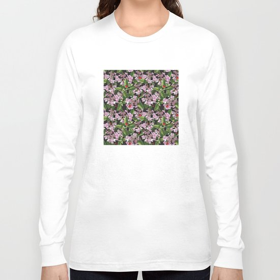 Floral insects pattern Long Sleeve T-shirt