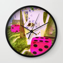 Just My Luck - Pottery Heaven Wall Clock