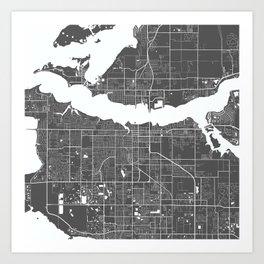 Bradenton USA Modern Map Art Print Art Print