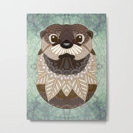 Ornate Otter Metal Print