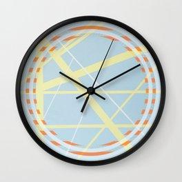crossroads ll - orangle circle graphic Wall Clock