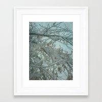 frozen Framed Art Prints featuring Frozen by DesignsByMarly