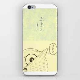Dyslexic Owl iPhone Skin