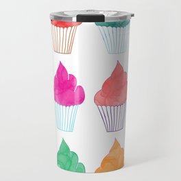 Cupcake Pattern Travel Mug