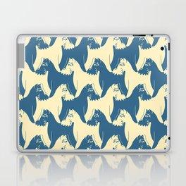 Dog Pattern | Schnauzer | M. C. Escher Inspired Artwork by Tessellation Art Laptop & iPad Skin