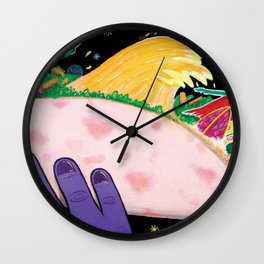 """""""Cocó´s Surfing safary"""" Wall Clock"""