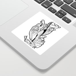 Openhearted B&W Sticker